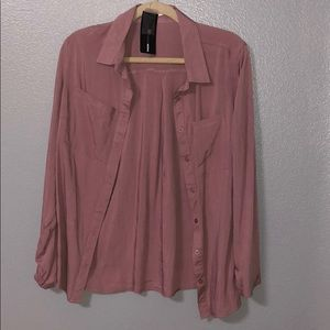 Mauve button down